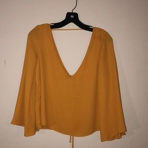 Zara FLOWY SHIRT SIZE M Low Back